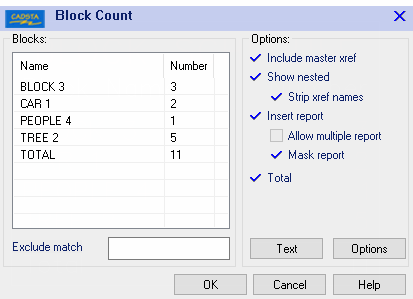 CADSTA Plus - Block Count - Data extraction tool