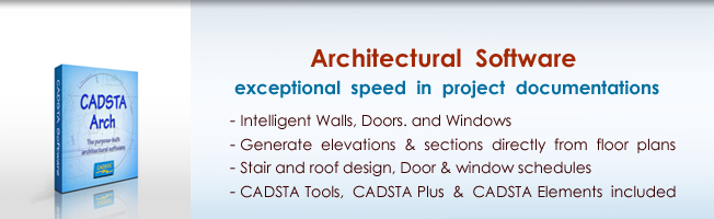 CADSTA Arch - Architectural add-on for AutoCAD and AutoCAD LT
