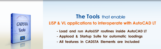 CADSTA Tools - Load and run LISP routines in AutoCAD and AutoCAD LT